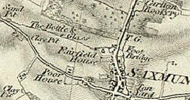 Bottle & Glass on the 1837 OS map