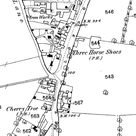 shown on old OS map