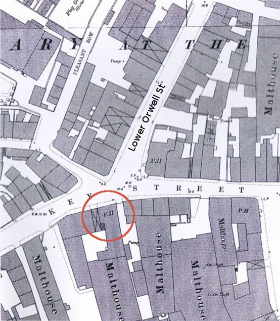 as seen on an 1881 map